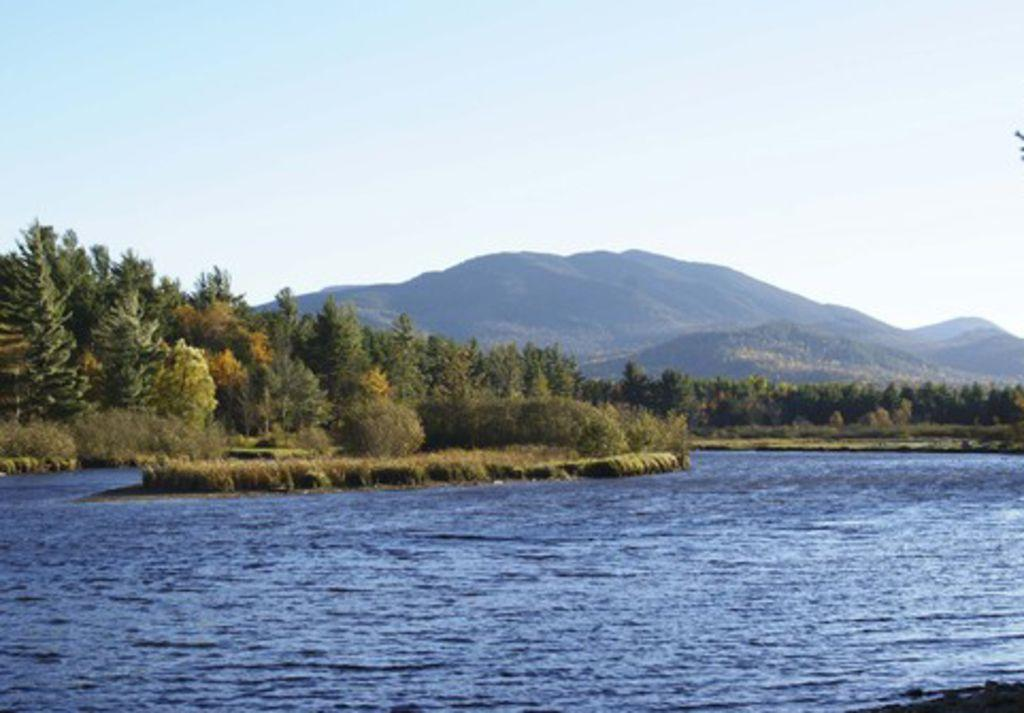 View of Whiteface Mountain from Ausable River - Owaissa Club's beach access