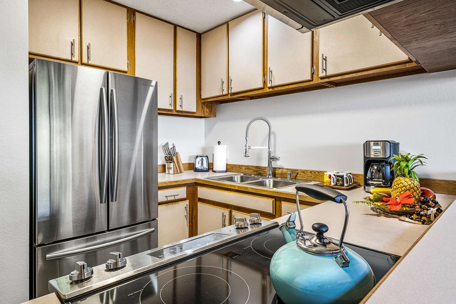 Kitchen has everything needed for your stay