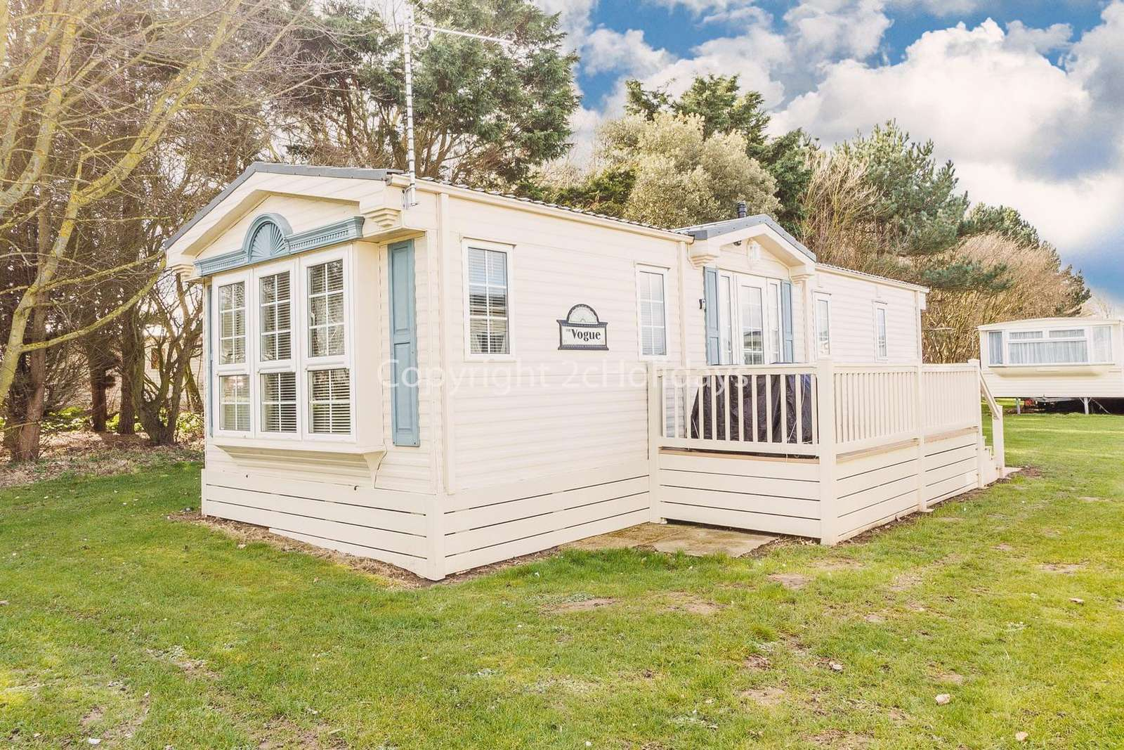 A very homely caravan sited on a great holiday park