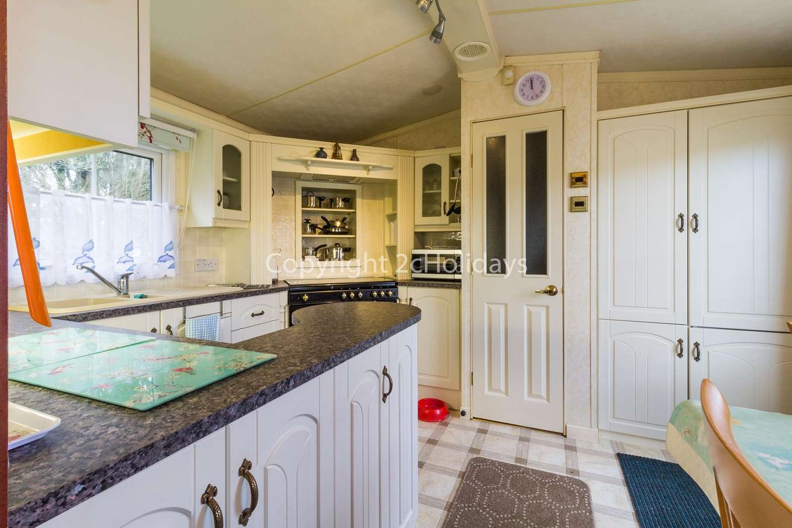 Theres plenty of storage in this kitchen as well as a dish washer!