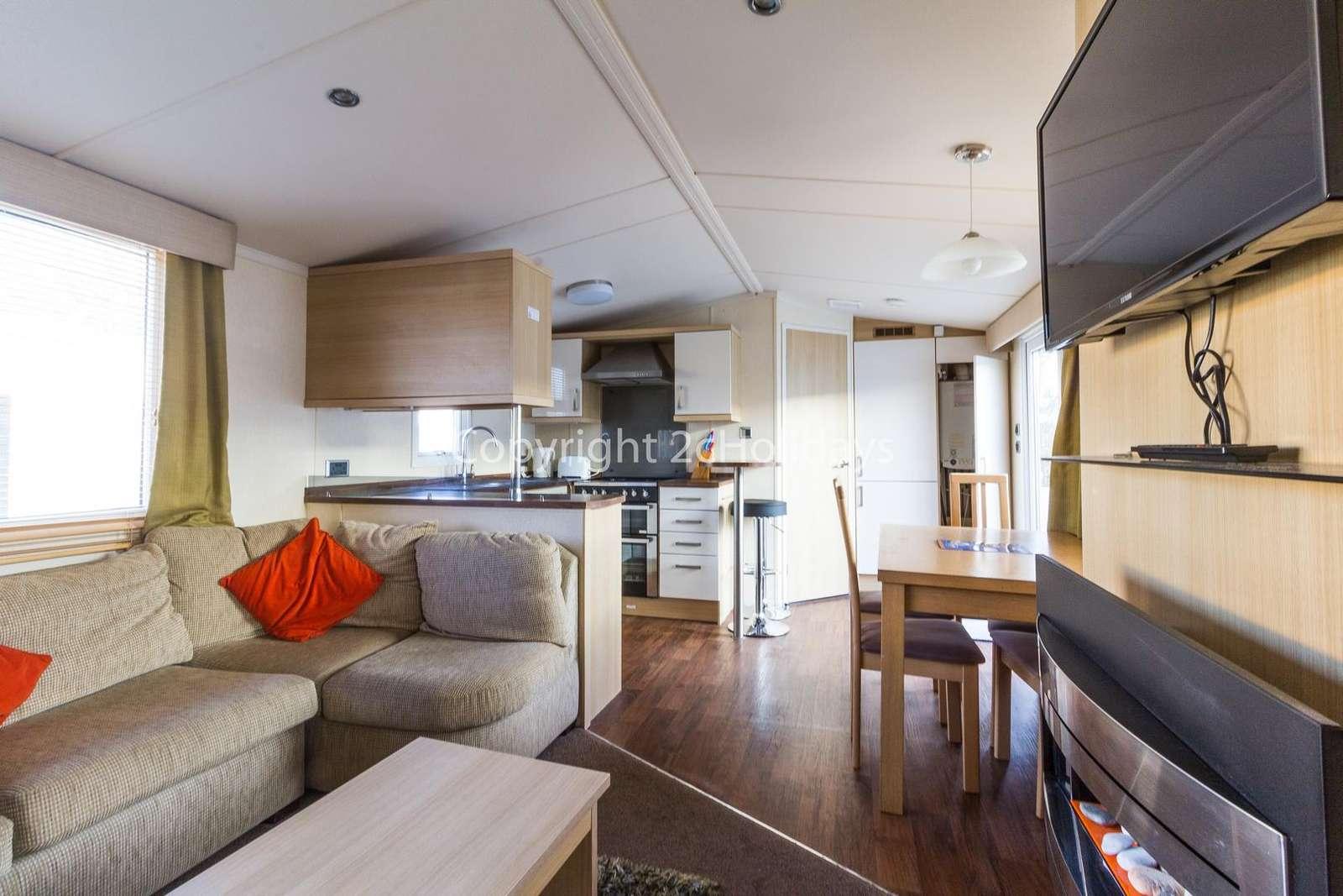 Spacious open plan kitchen/dining area