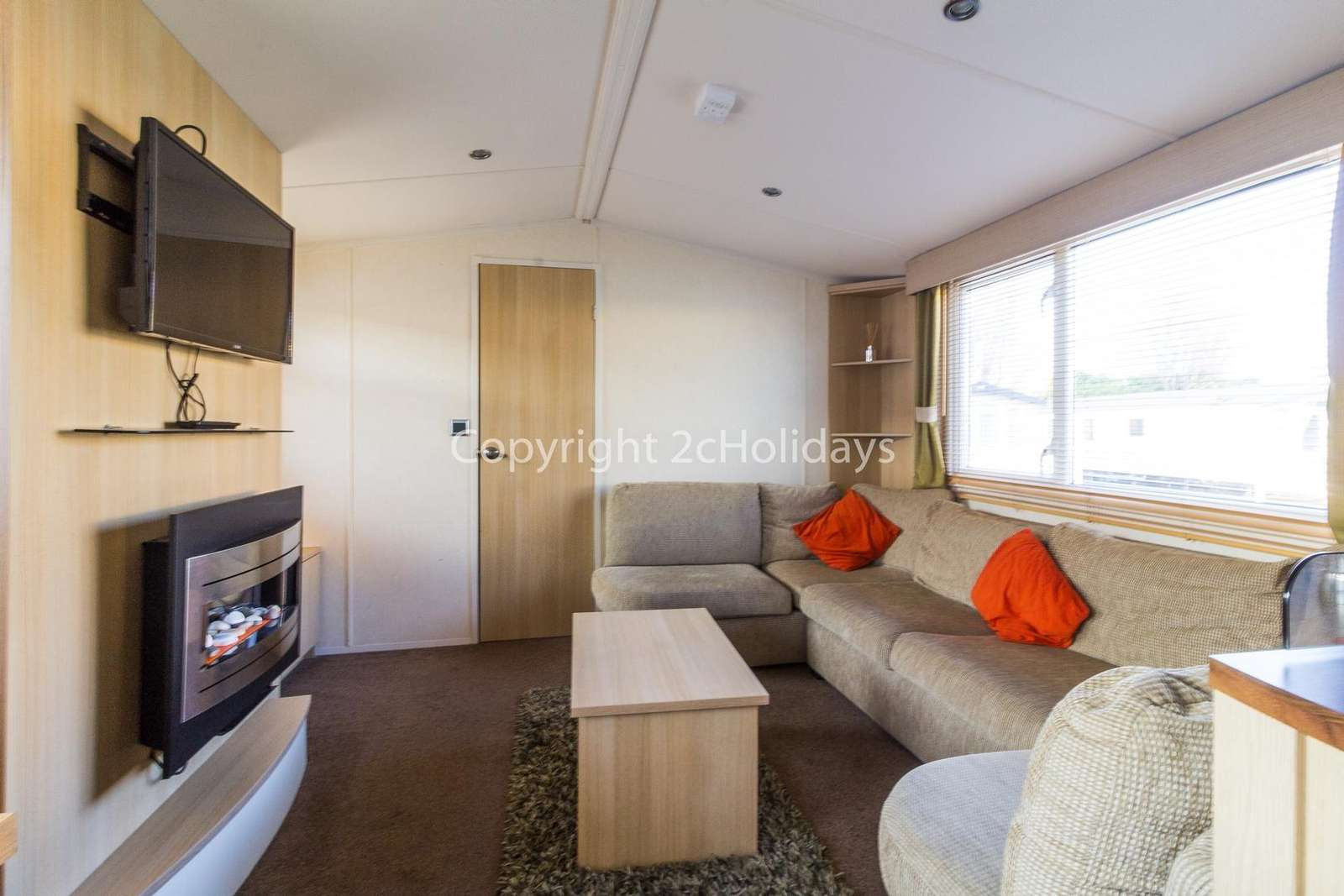 Cosy lounge area with a TV/DVD player