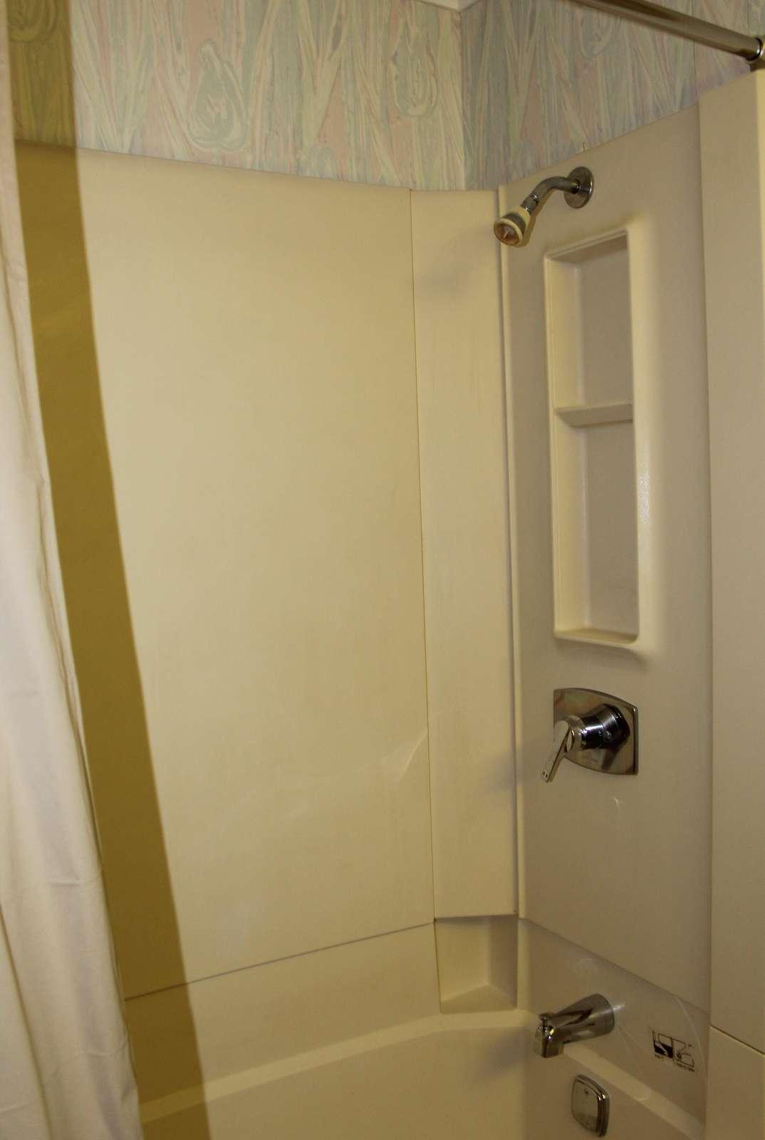 First Bathroom Bathtub with Shower