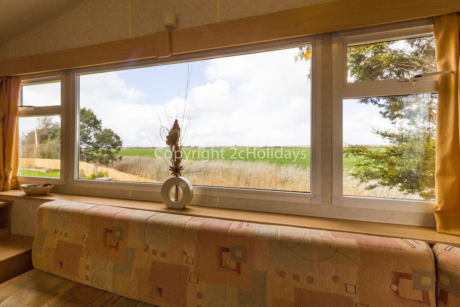 Enjoy stunning field views from this lounge!