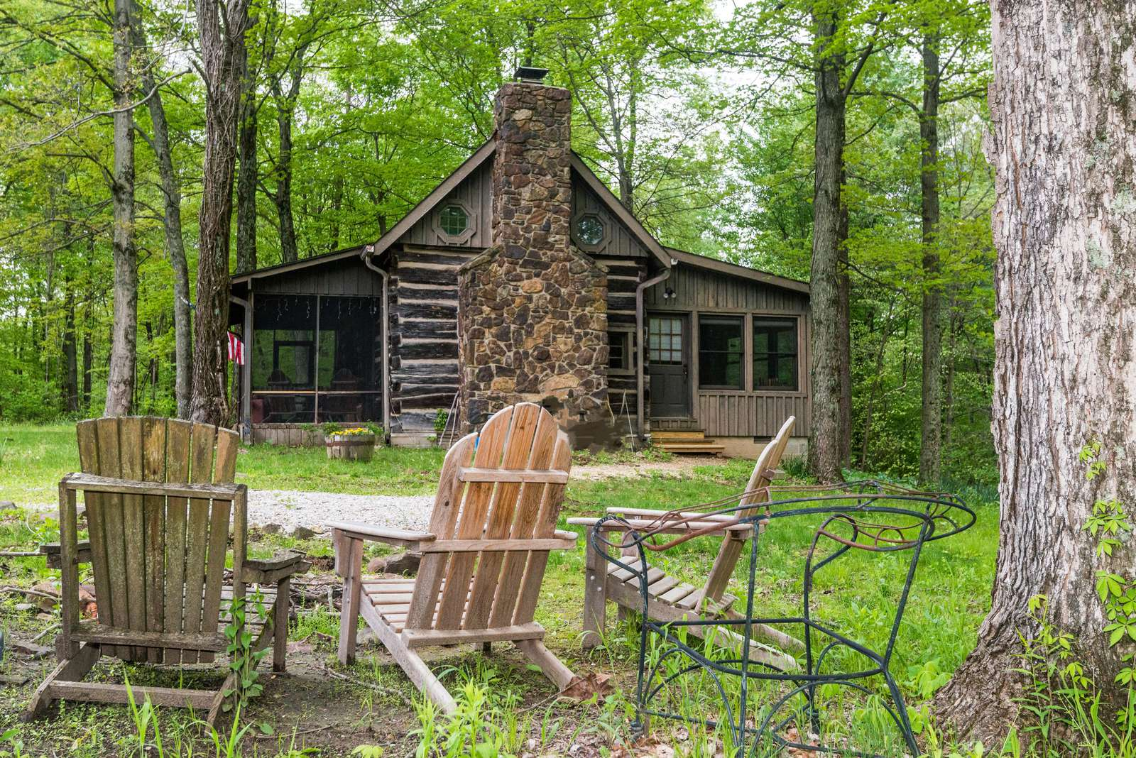 Middle Of Nowhere Log Cabin  Brown County Log Cabins-7855