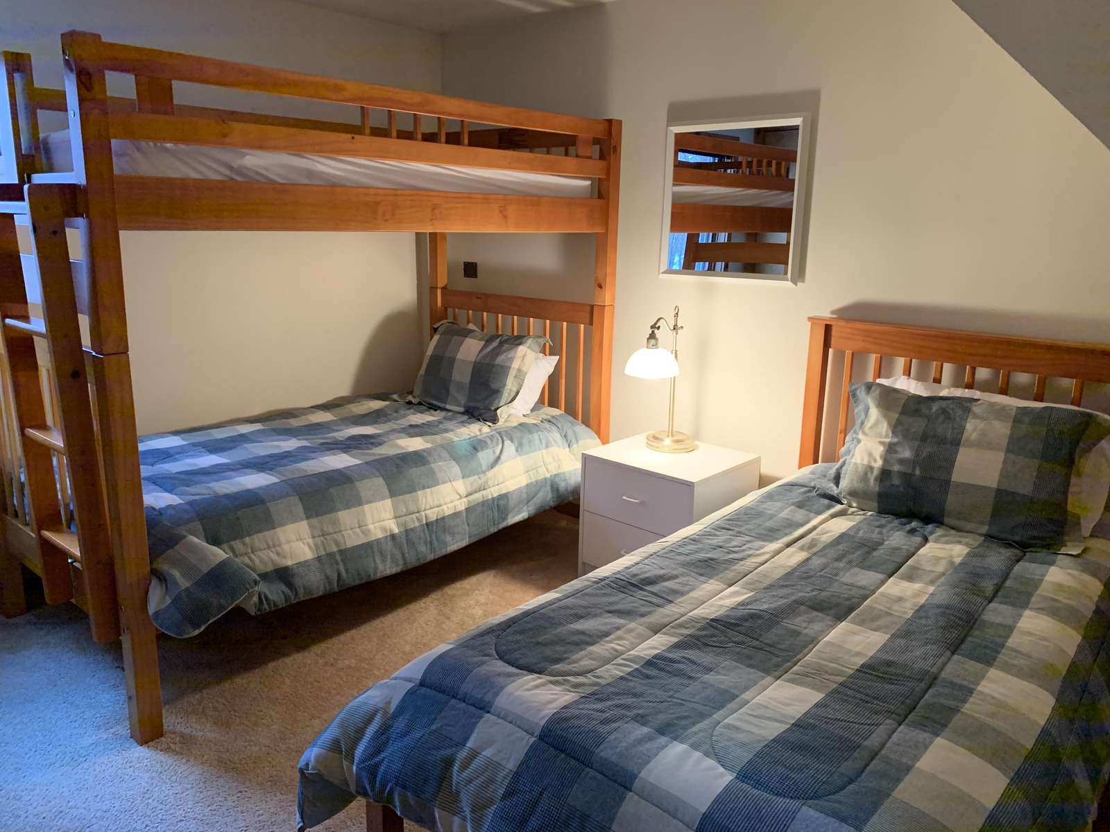 3rd bedroom - bunks and a twin