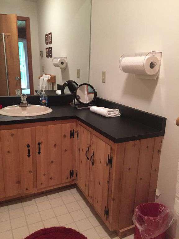 bathroom off hot tub and sauna room