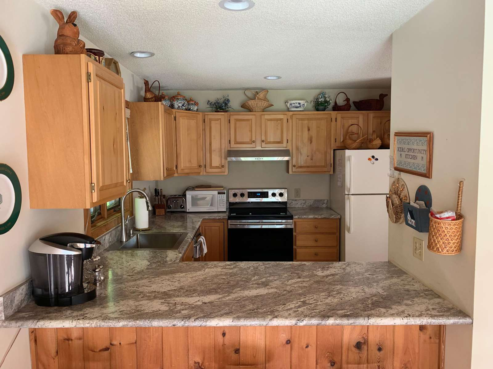 Updated kitchen appliances