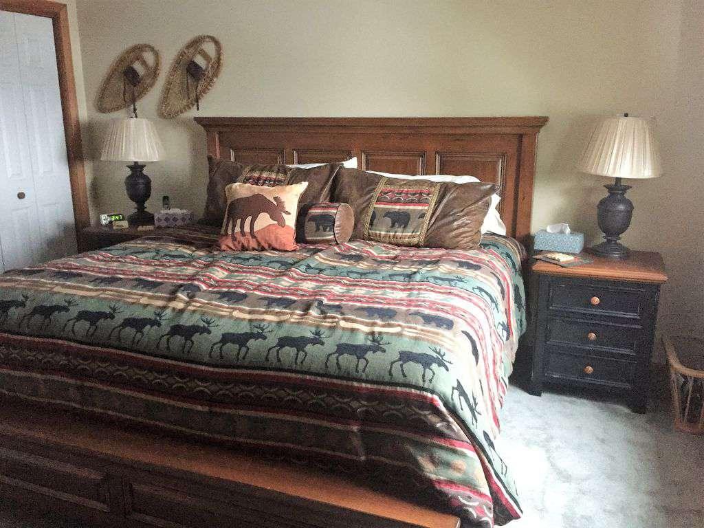 King in master bedroom