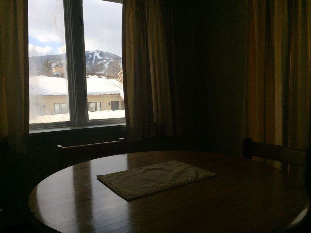 view of the mountain from the dining table