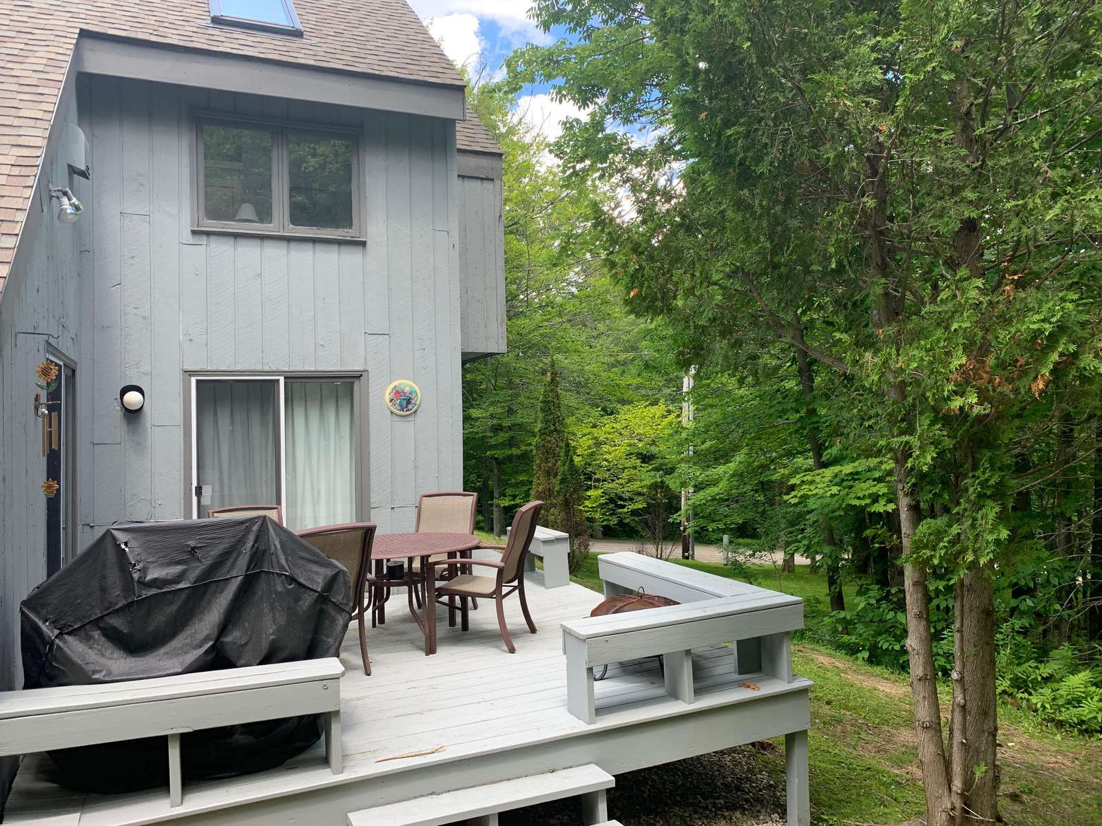 Deck off dining room and living room