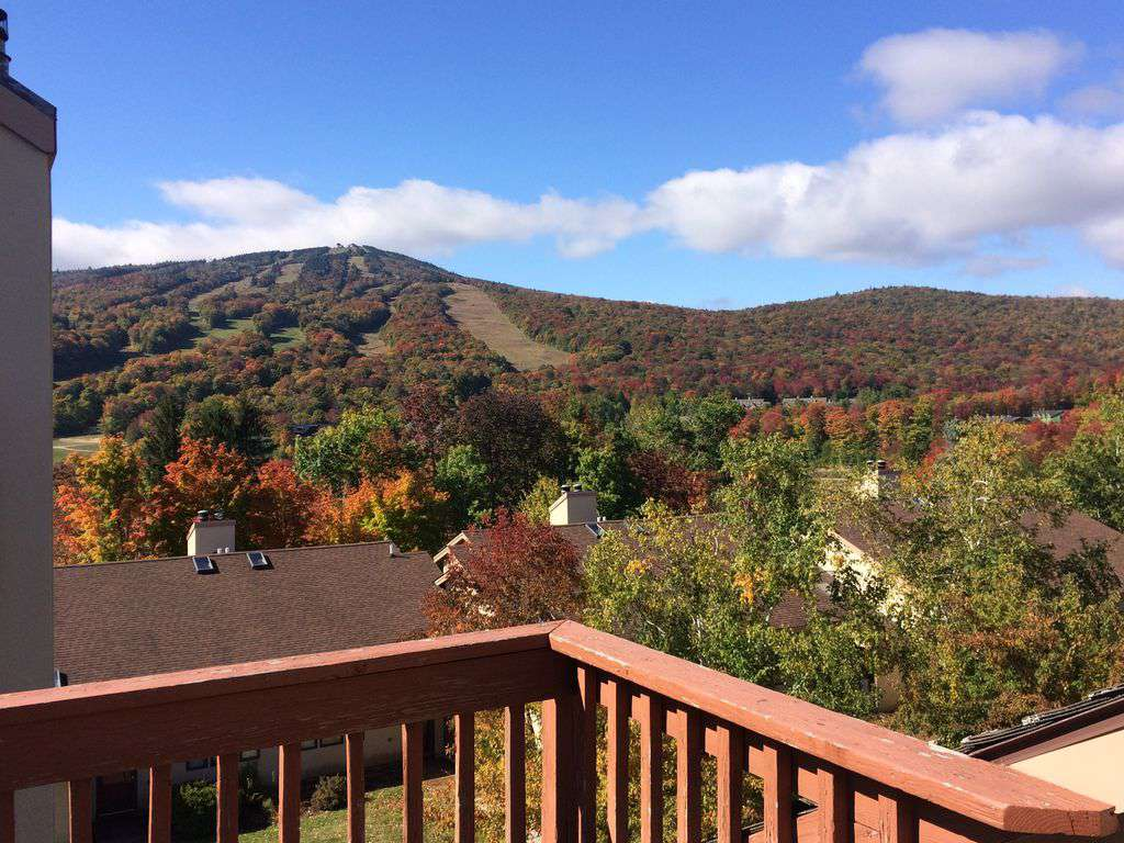 View from deck to the Summit of Mount Snow