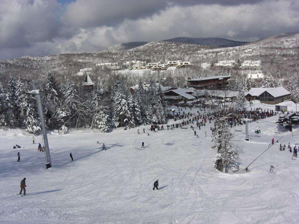 Snow Mountain Village seen from Mount Snow