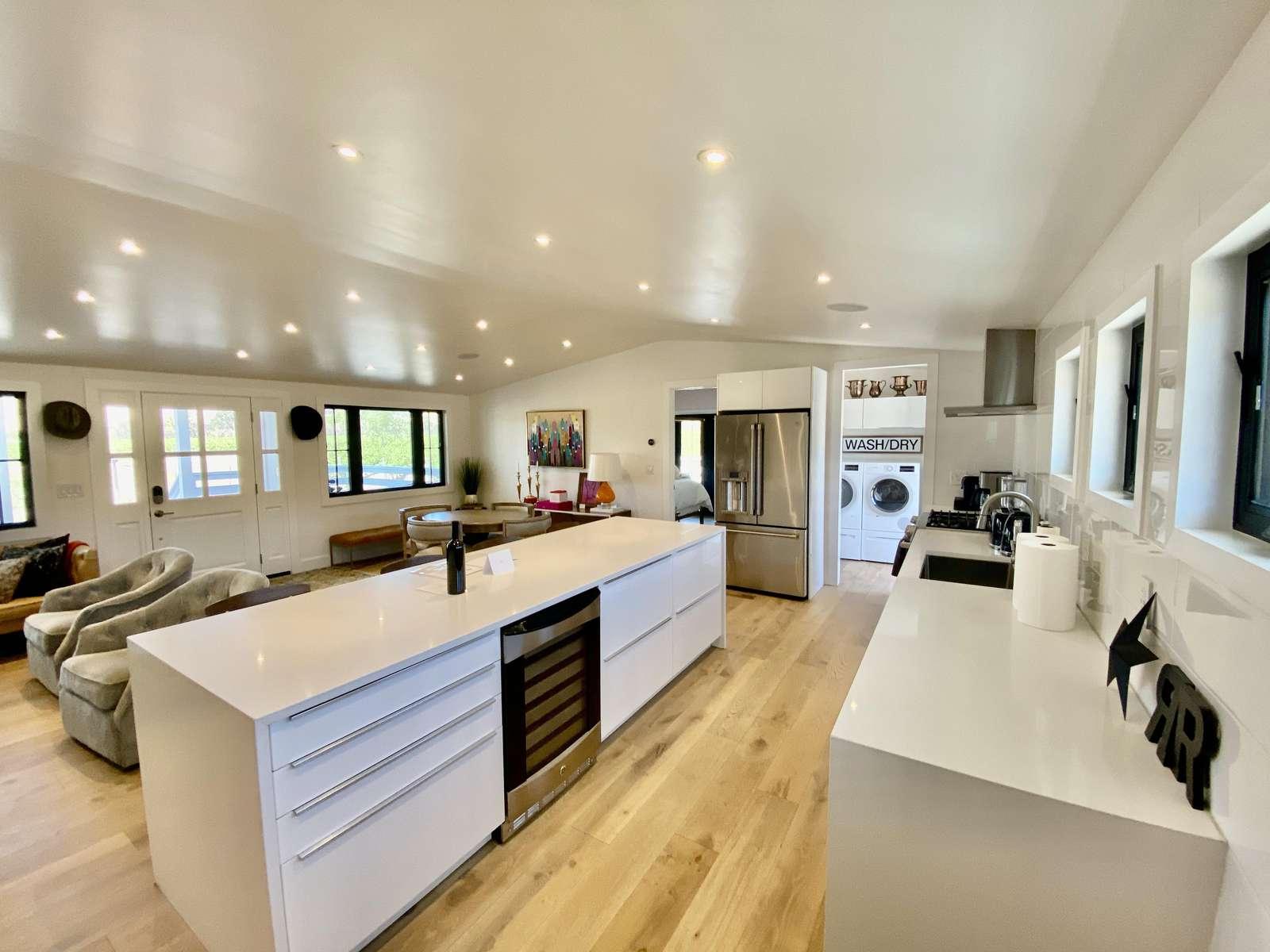 Kitchen view toward master bedroom