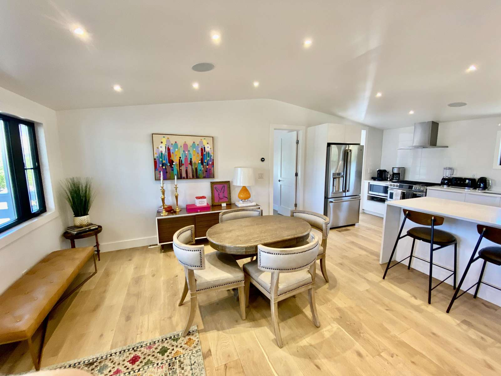 Dining area of main living space