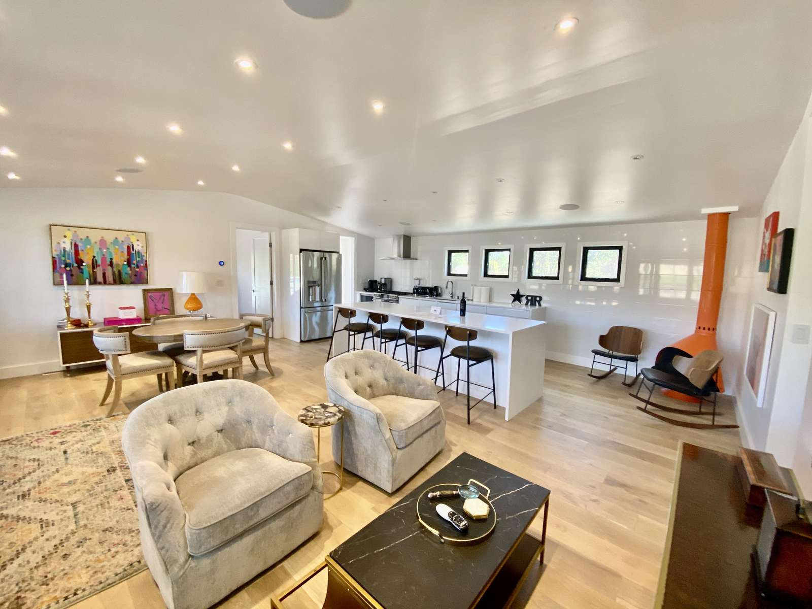 Large open space living area