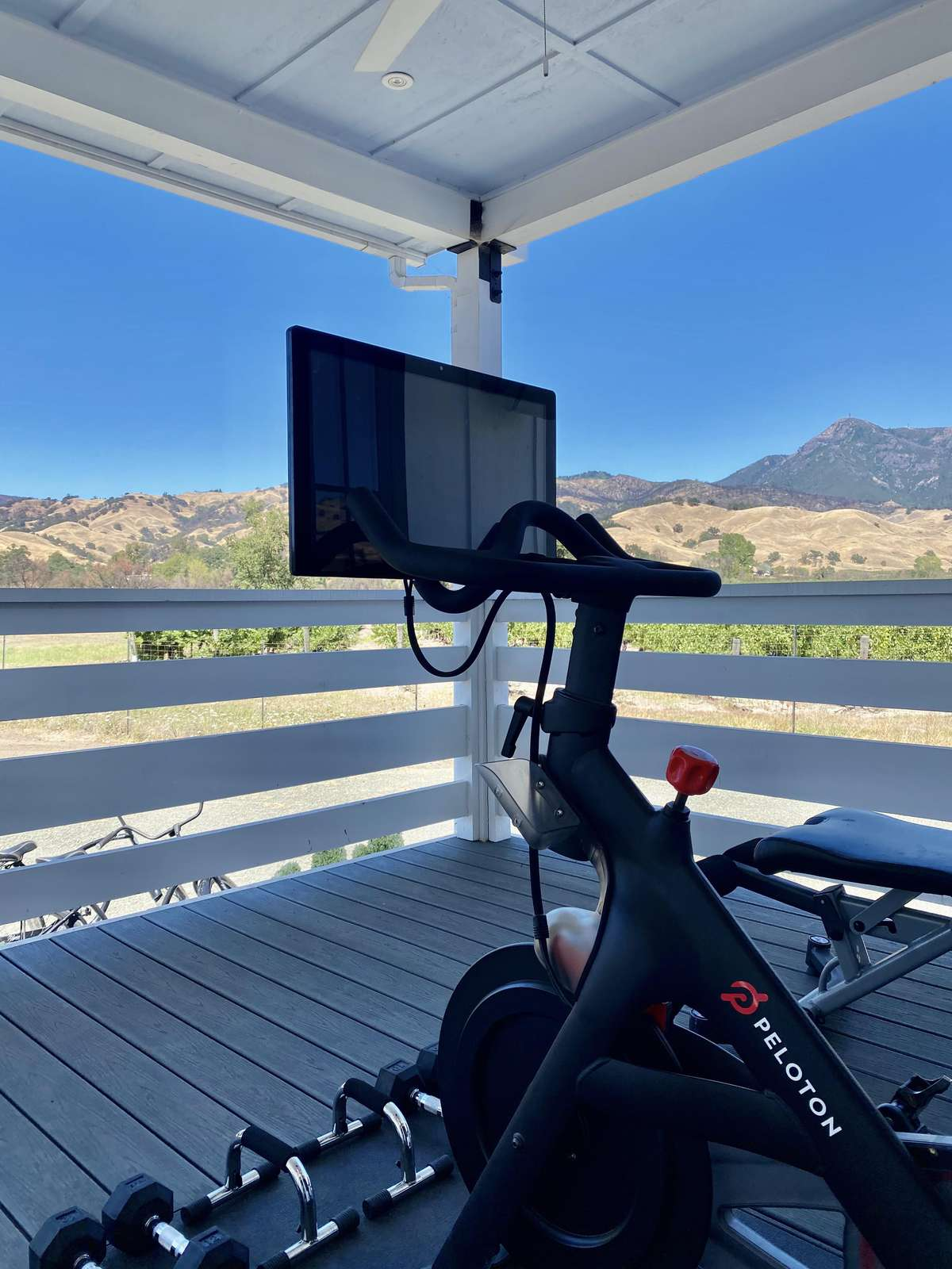 Peloton for your use with OK views!