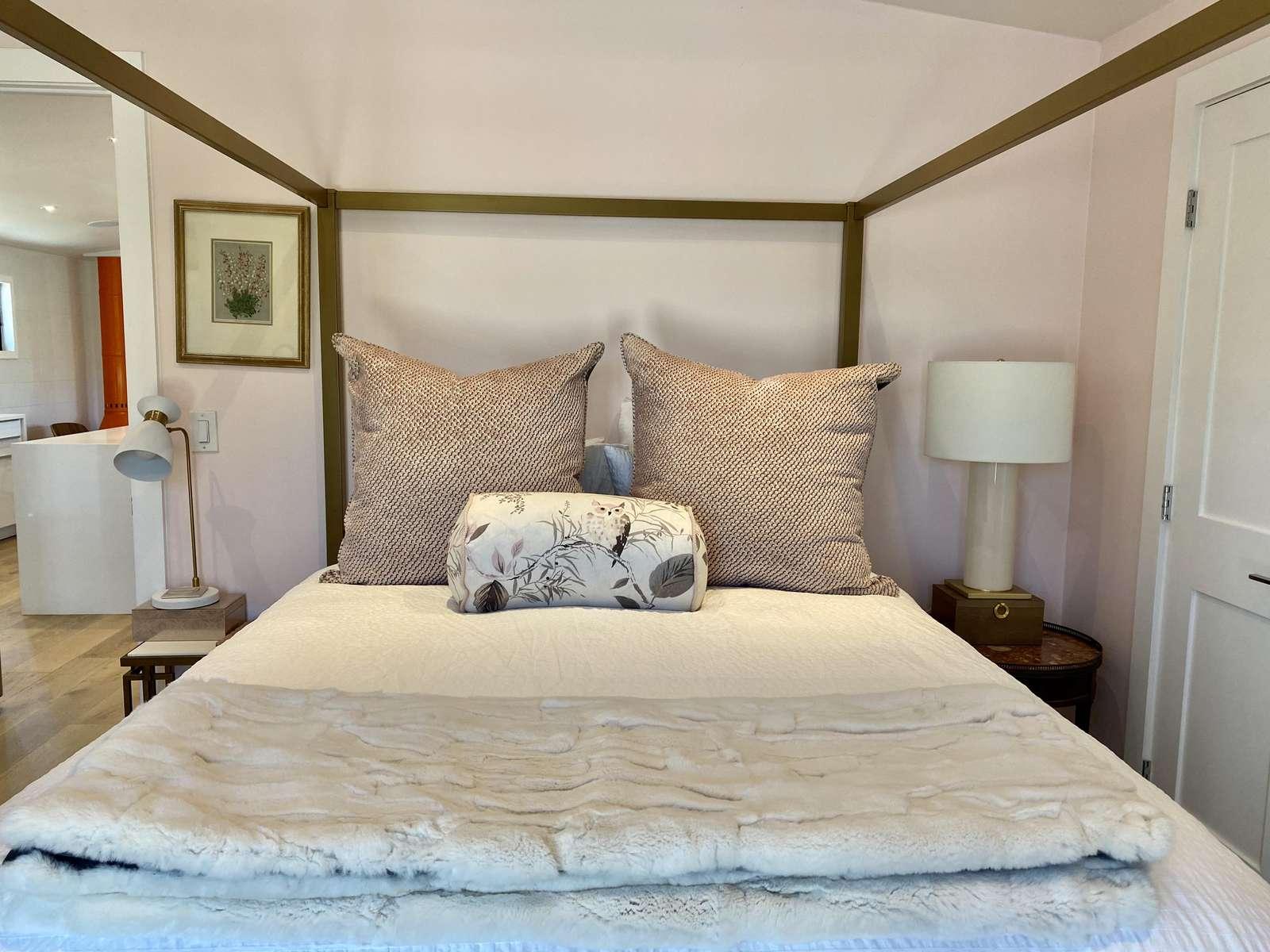 Comfy master bed