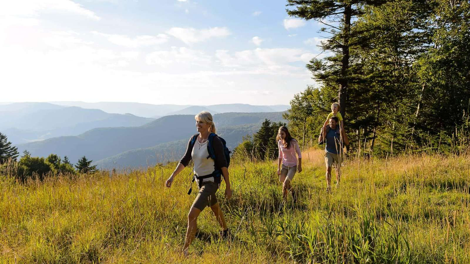 Enjoys miles of hiking with views of the beautiful WV mountains!
