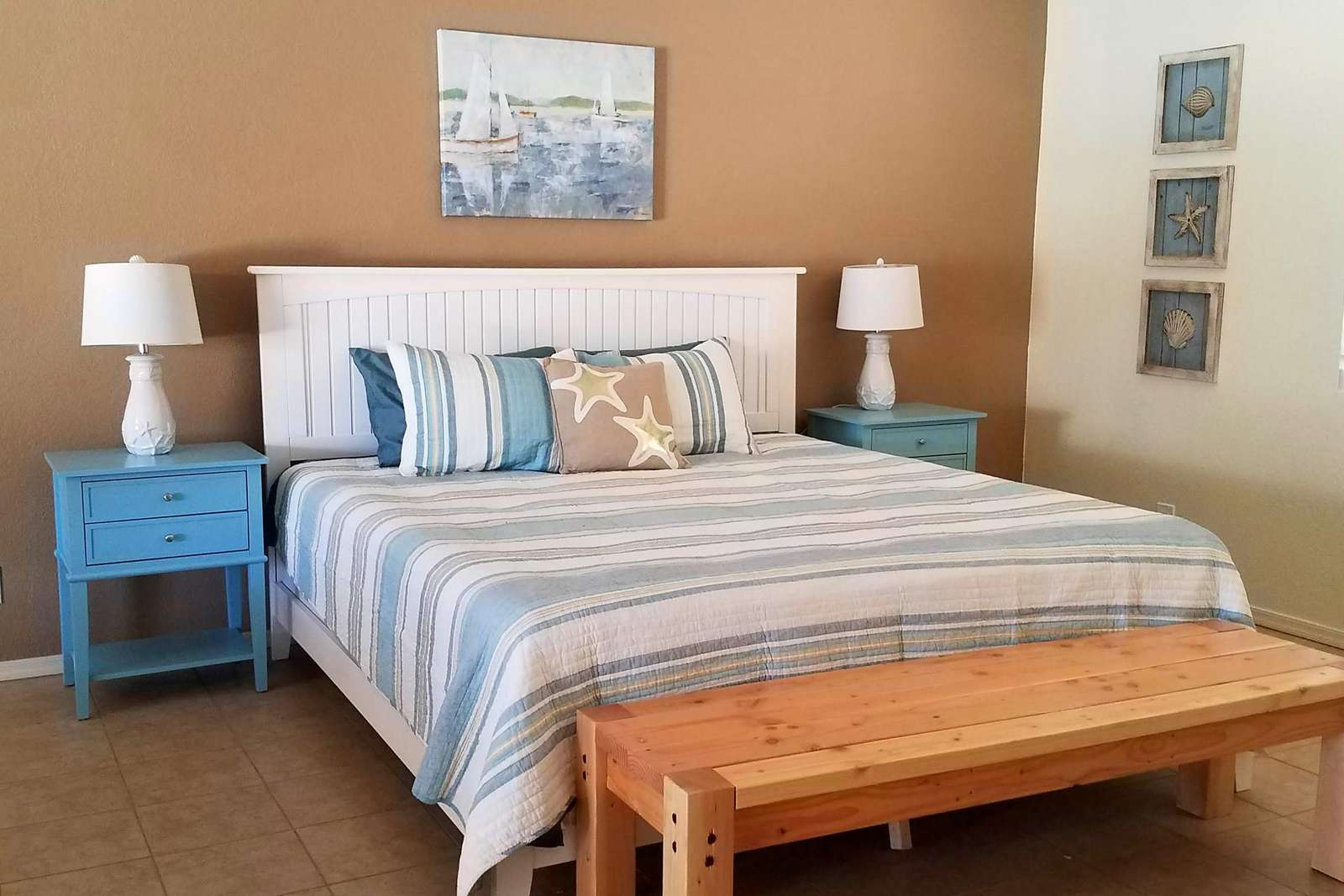 Turquoise Master Suite with King Bed