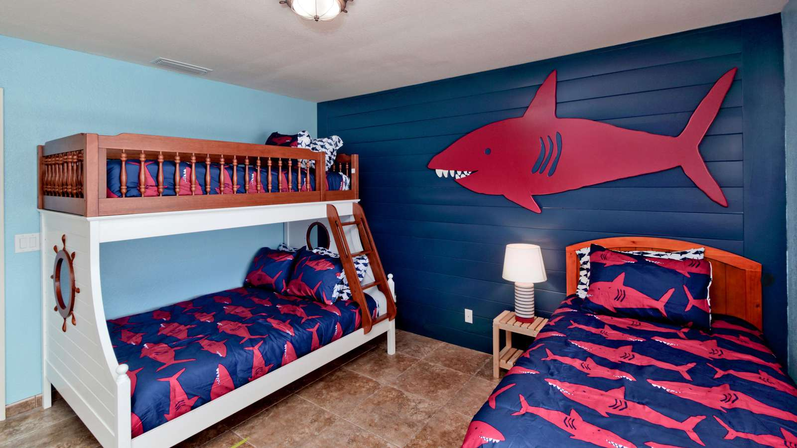 Sharkey's Room sleeps 3-4 kids