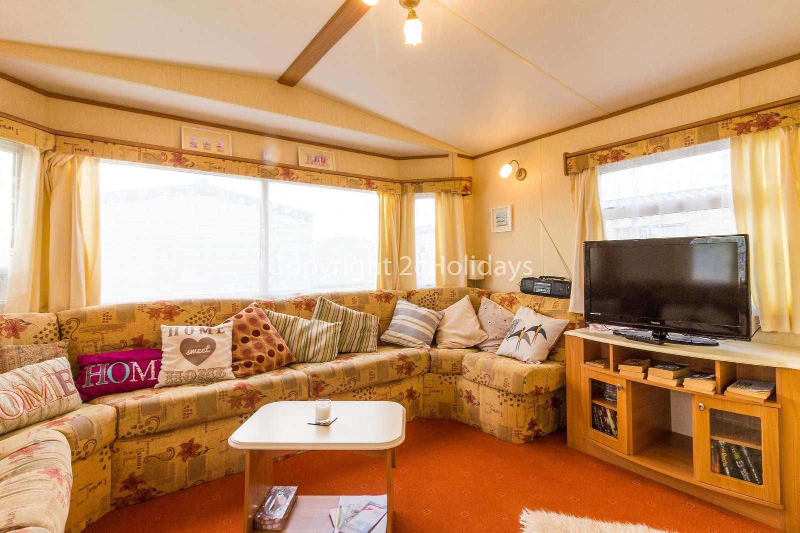 Such a cosy living area with a TV!