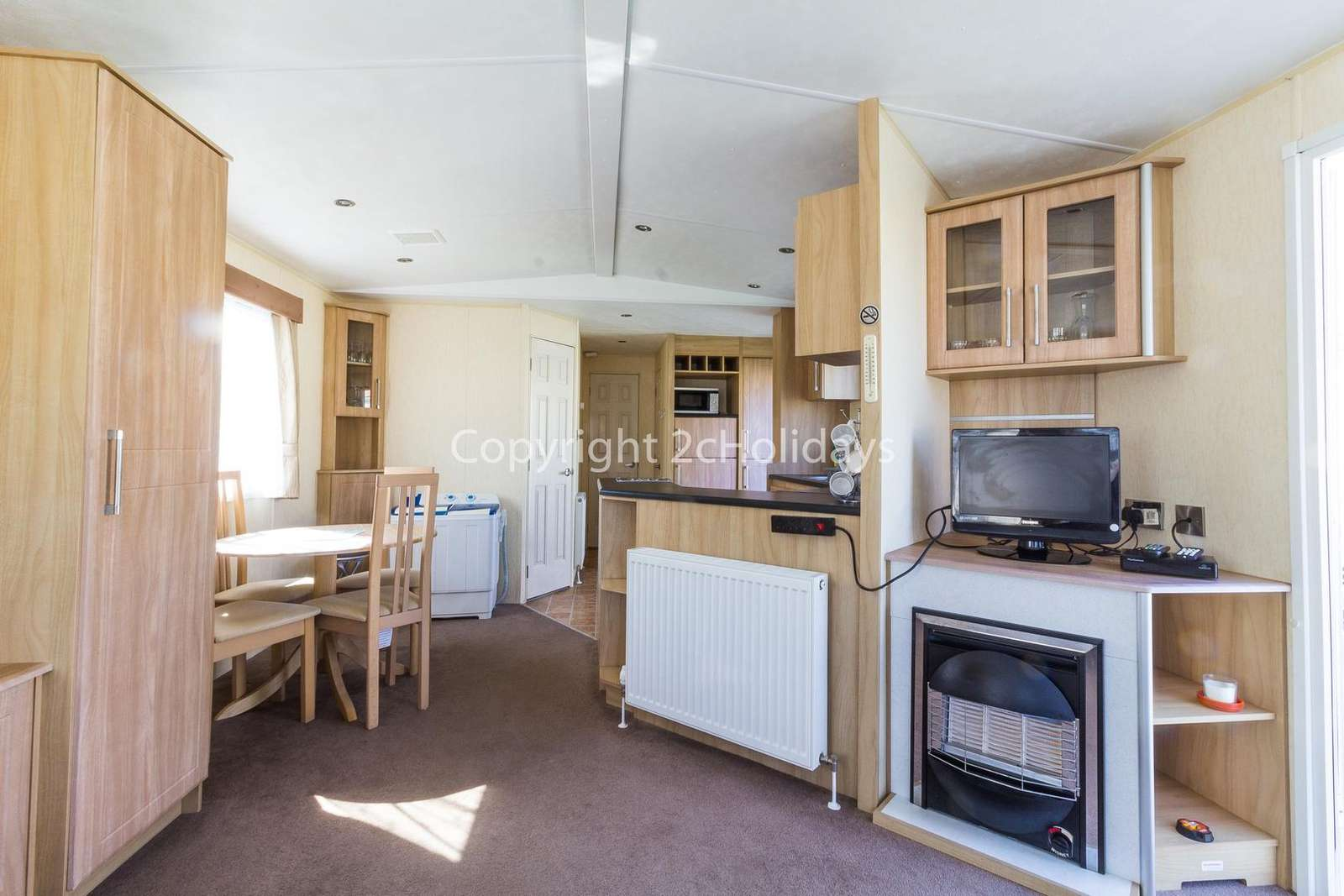 Open plan living/dining area!