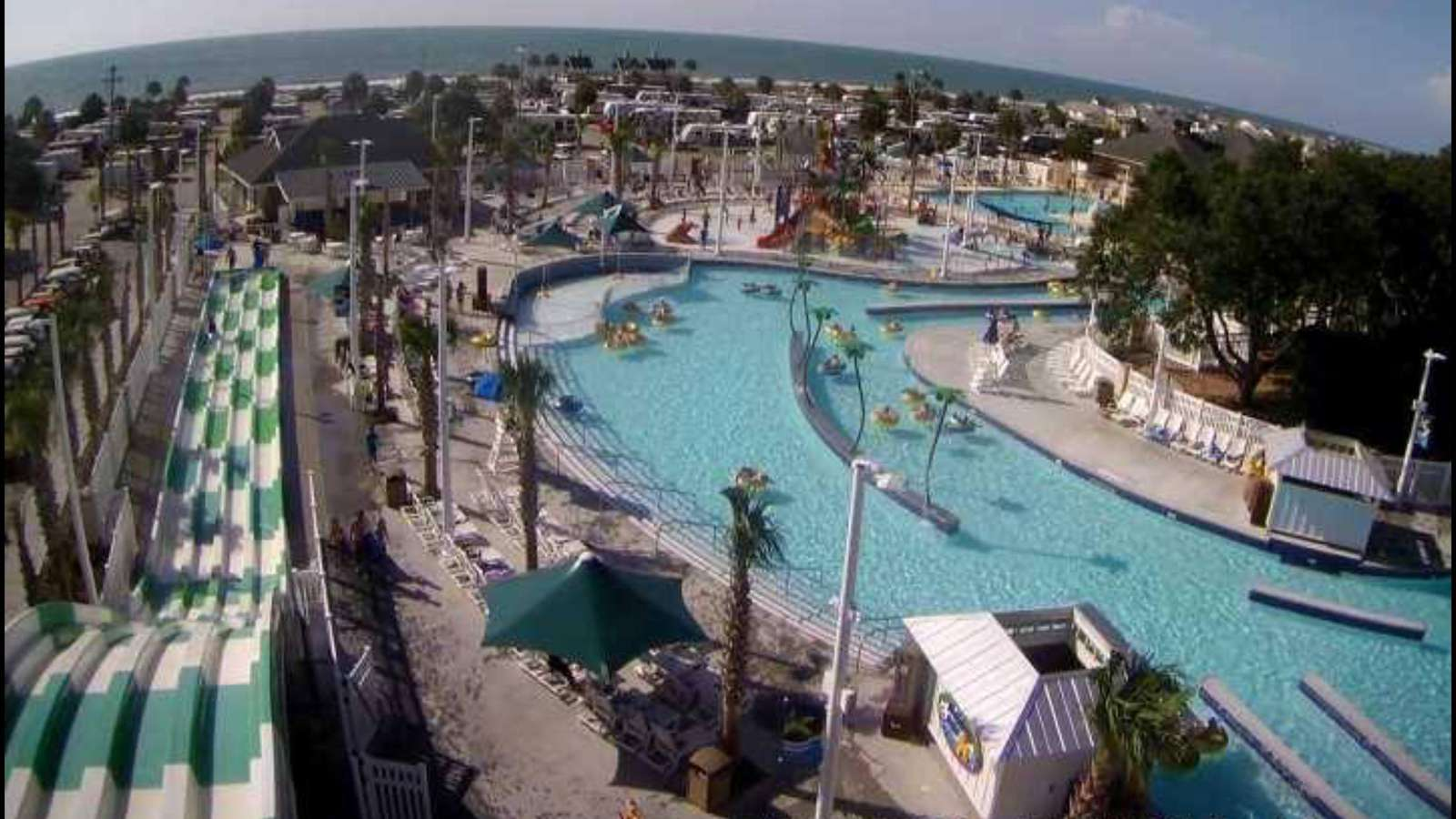 View of the water park