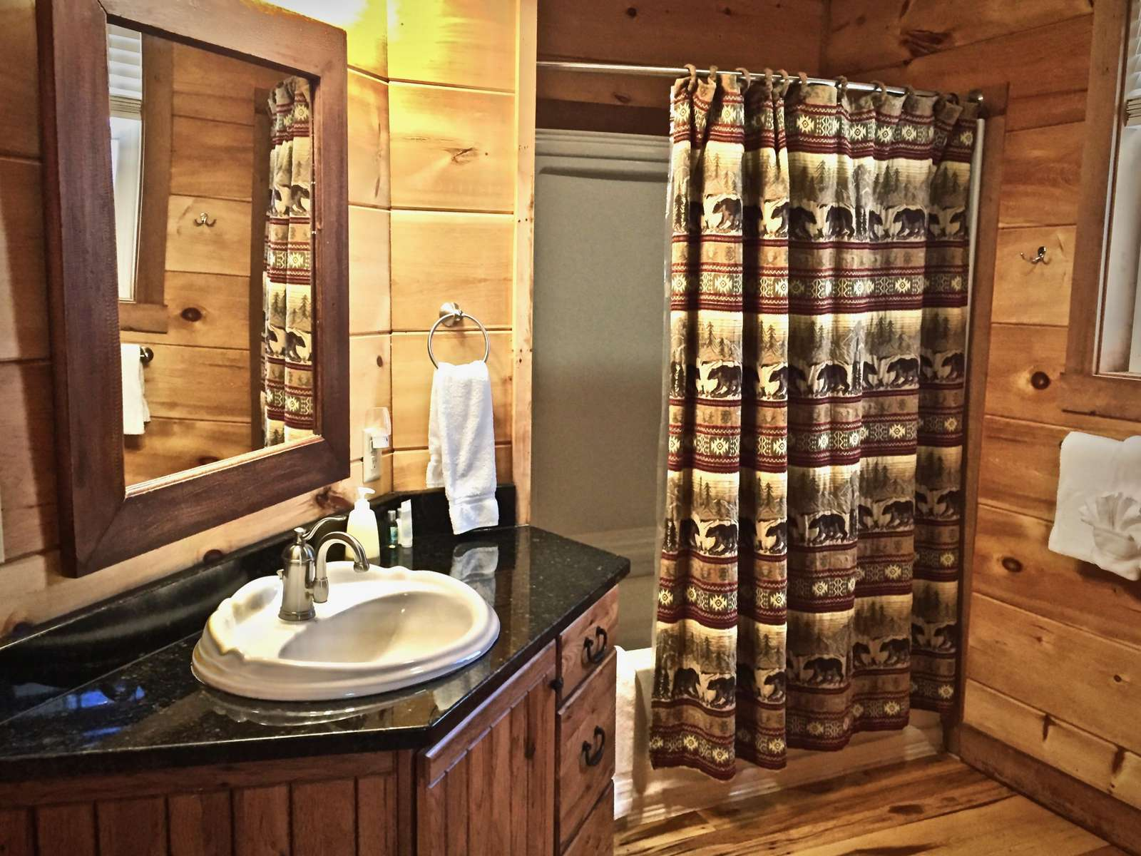 2 Full Bathrooms, One on each Level of the Cabin