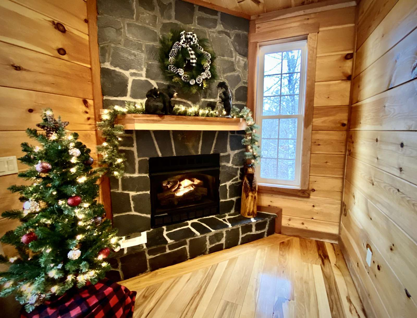 Holiday Cheer and a Cozy Fireplace
