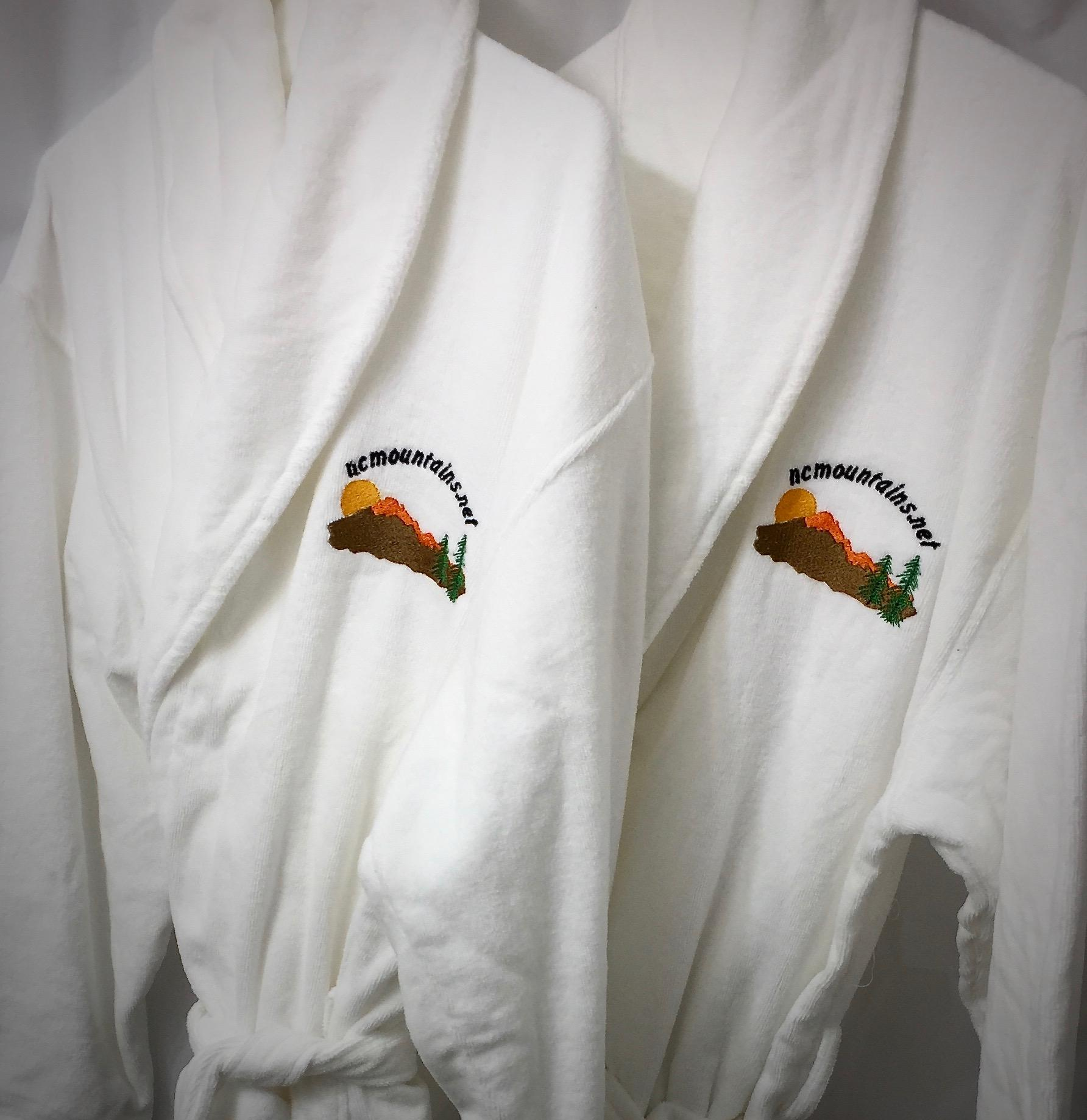 2 Plush Bathrobes are provided for use during your stay.