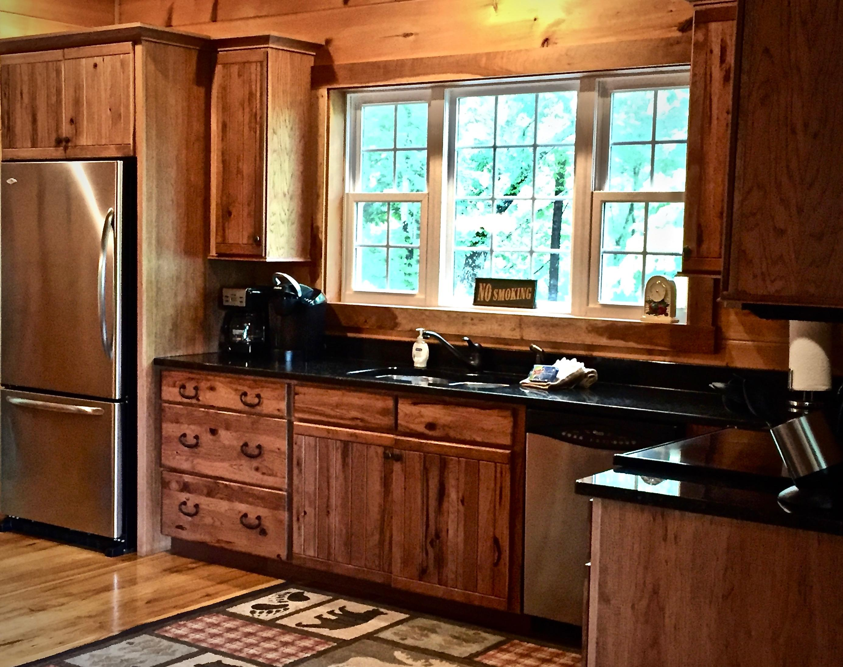 Keurig and Coffee Maker, as well as everything you will need to Cook and Enjoy your meals without ever leaving the Cabin