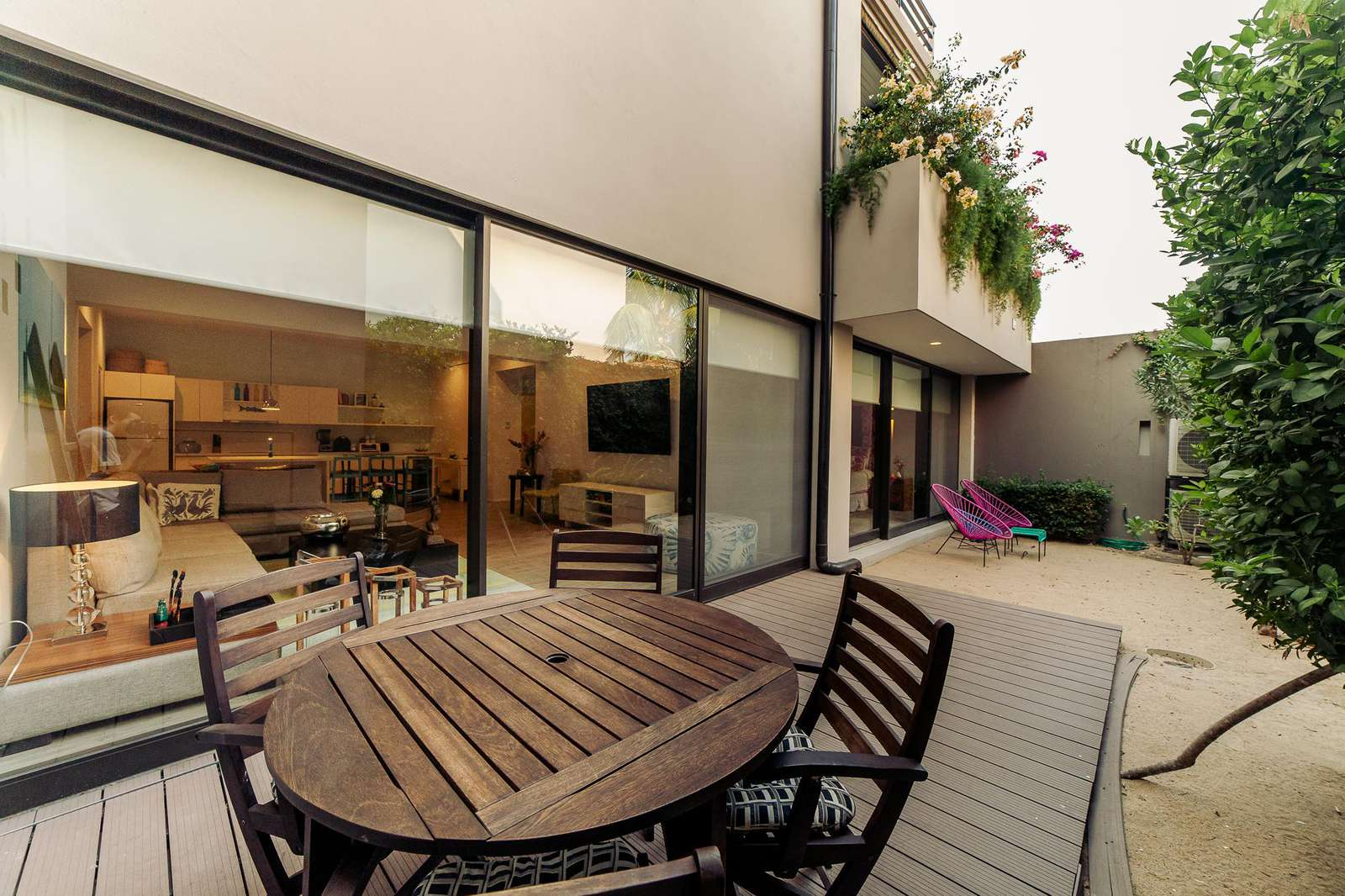 Relax in your private garden terrace