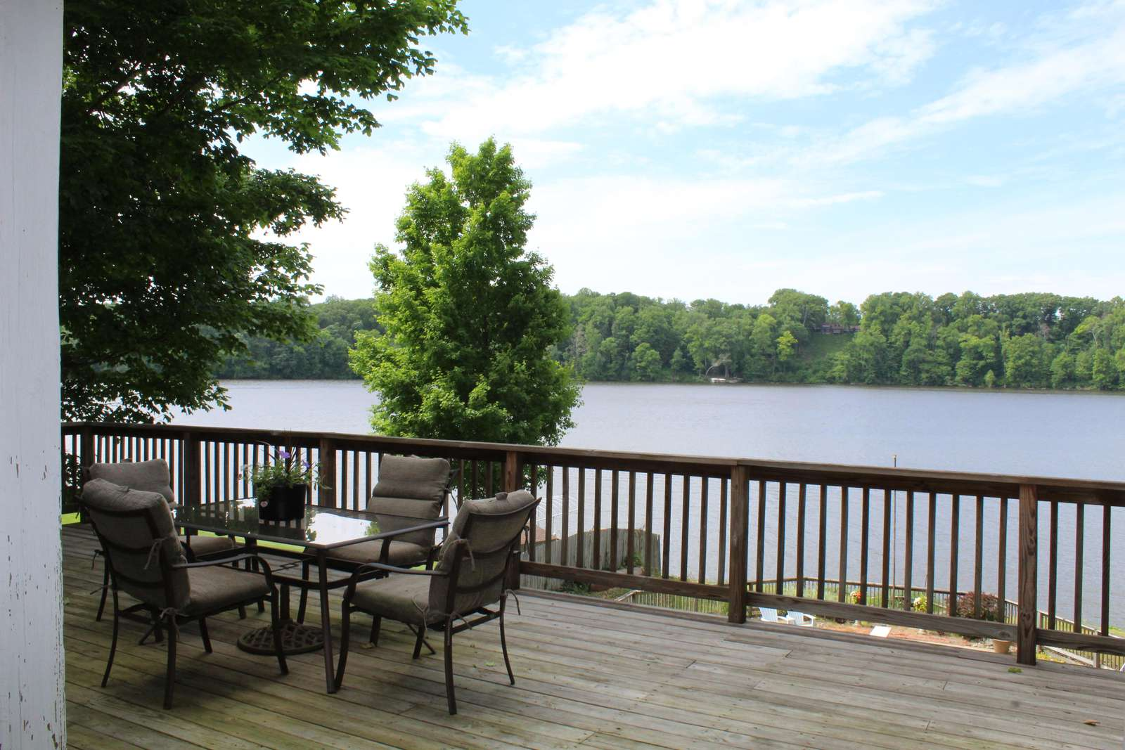 Deck with Lake Chapin View