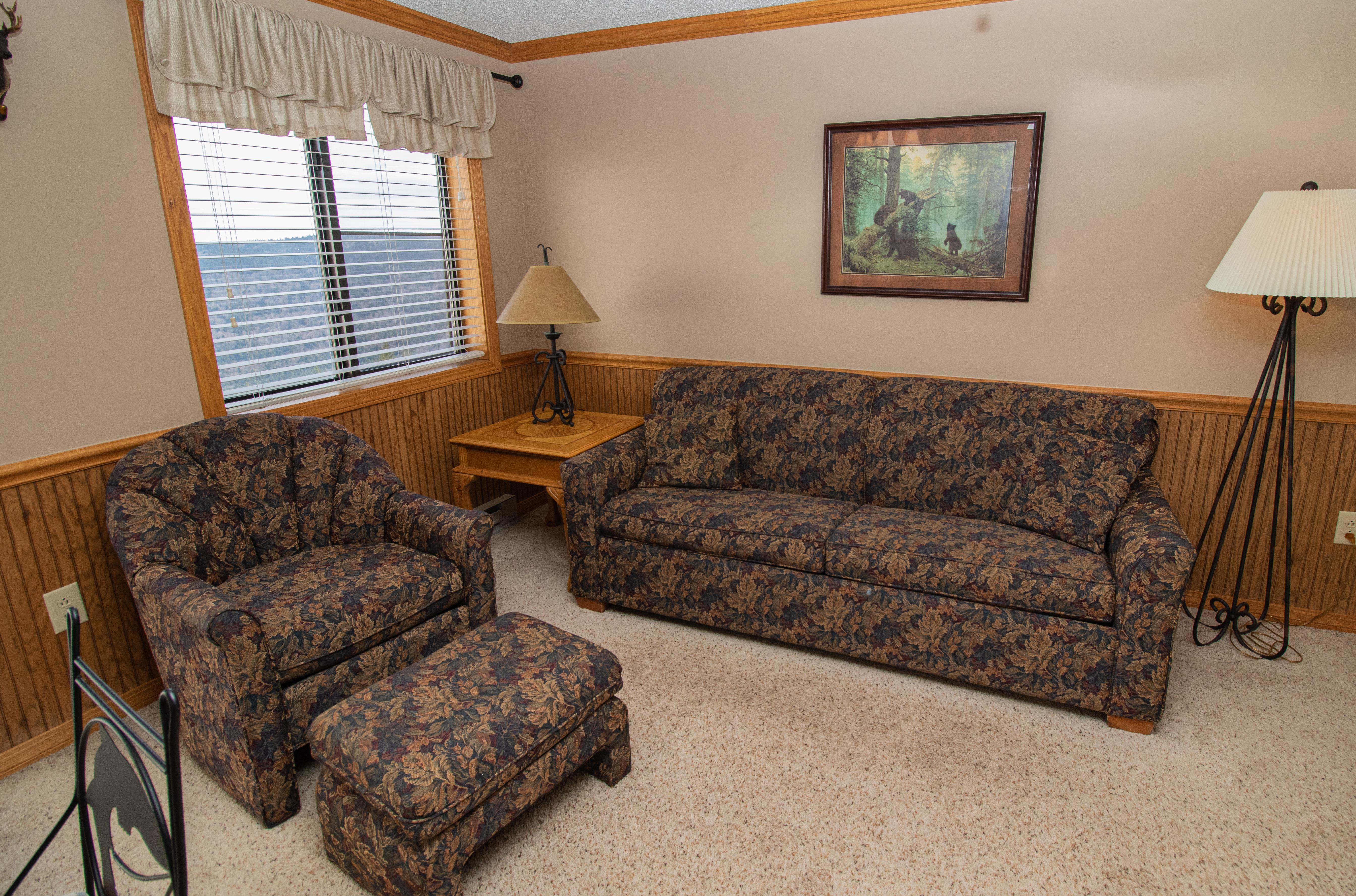 Mountain Lodge 356 Foldout couch sleeps two (2)