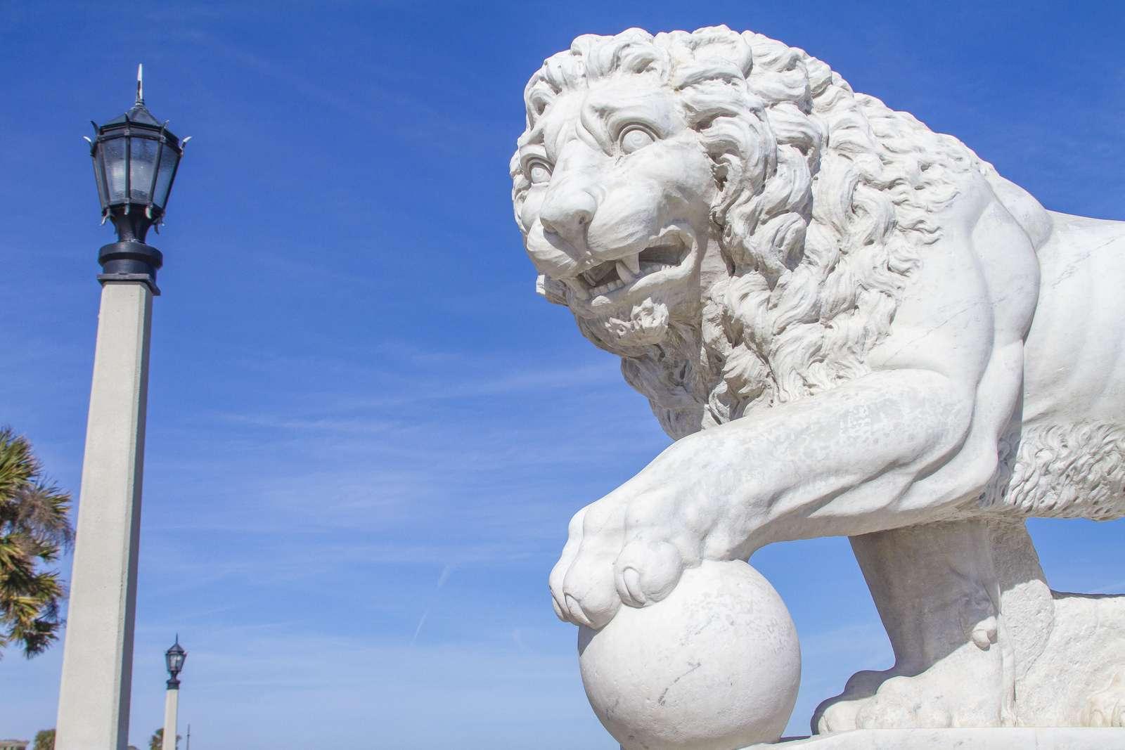 Bridge of Lions Statue St. Augustine