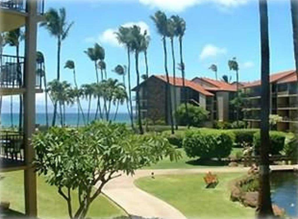 View of Beach from Lanai
