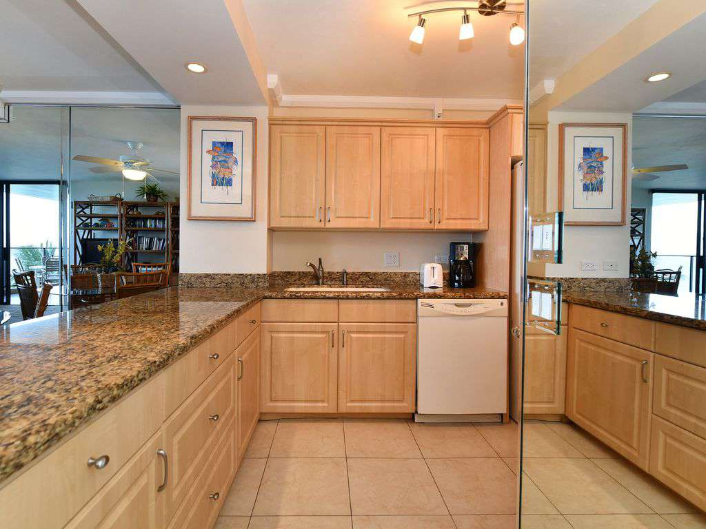 Upgraded granite counters