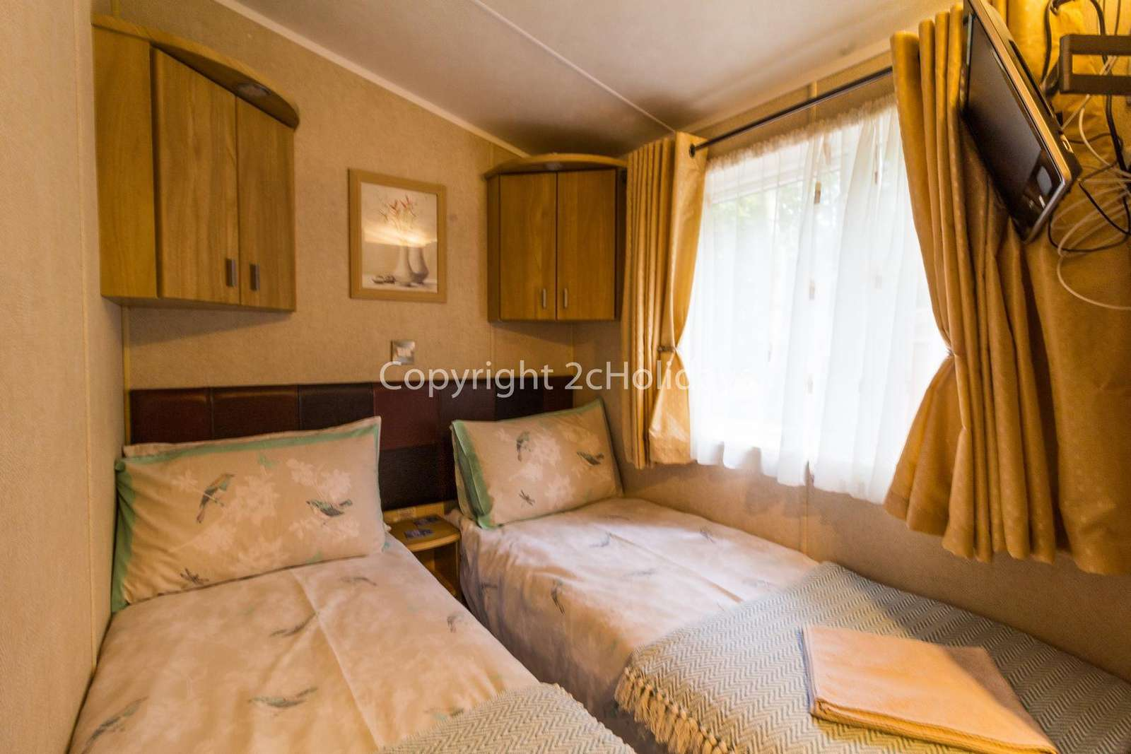 Twin bedroom comes with a TV/DVD player