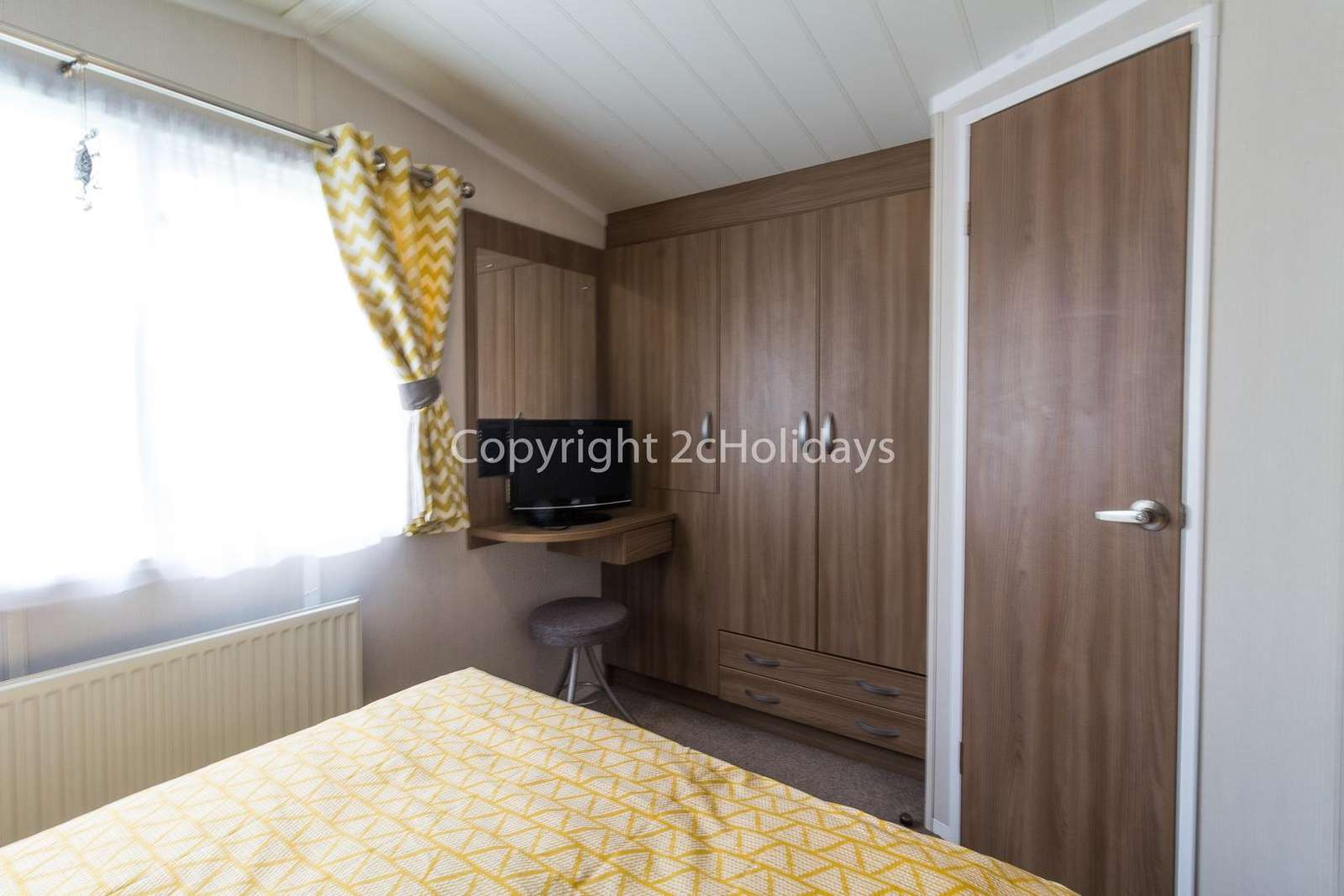There's plenty of storage space in this master bedroom with an en-suite!
