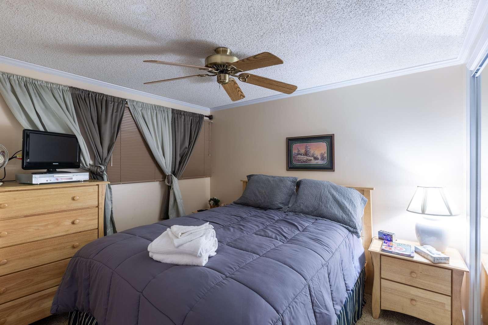 Bedroom #2 has an elegant design