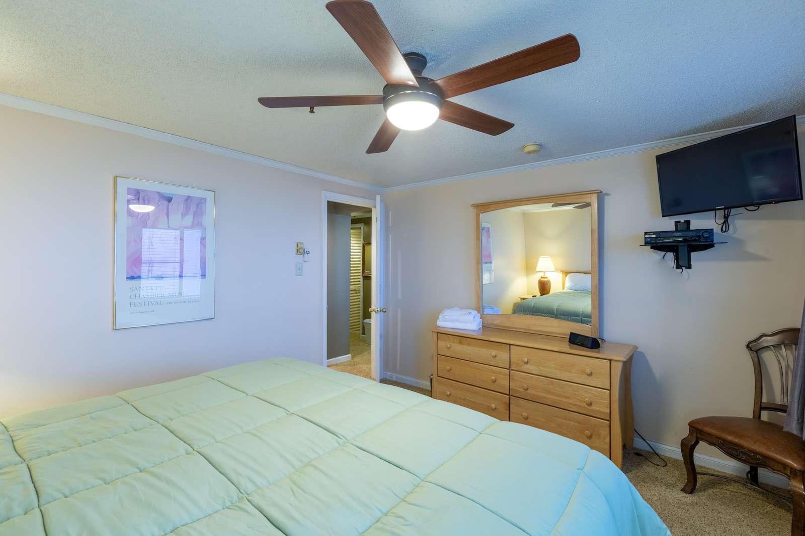 Elegant design on master bedroom