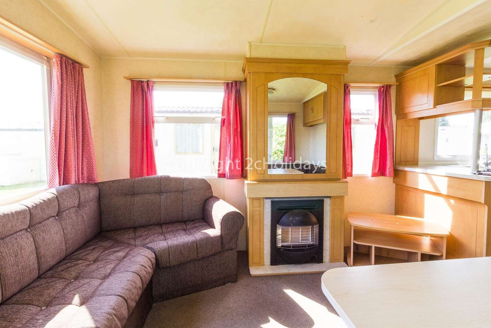 Cosy living area with a TV and gas fire!