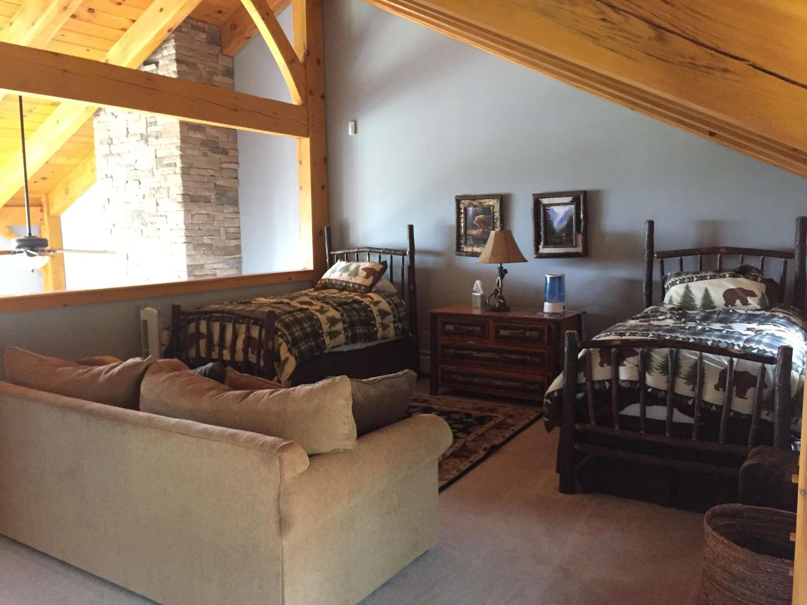 Upper level loft bedroom