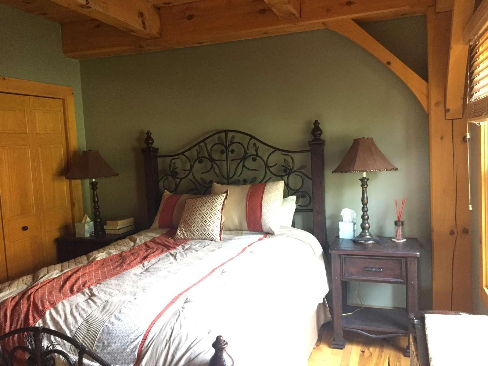 Main floor bedroom - queen bed