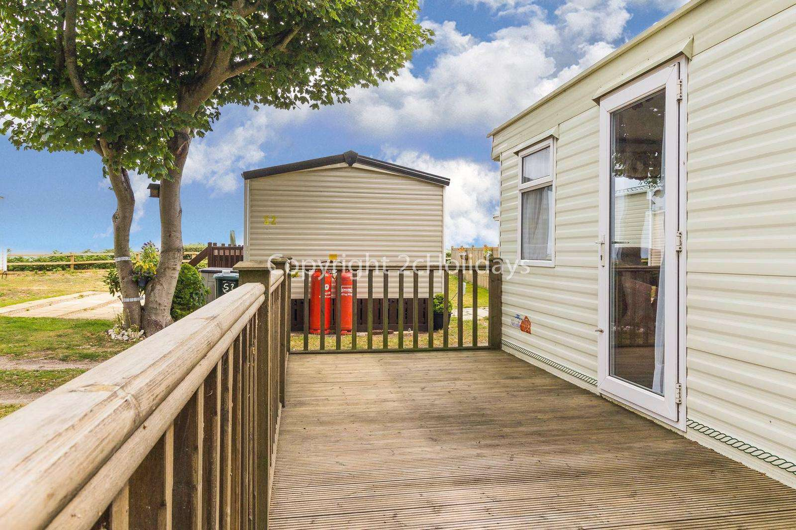 Gated decking perfect for families and your pets!