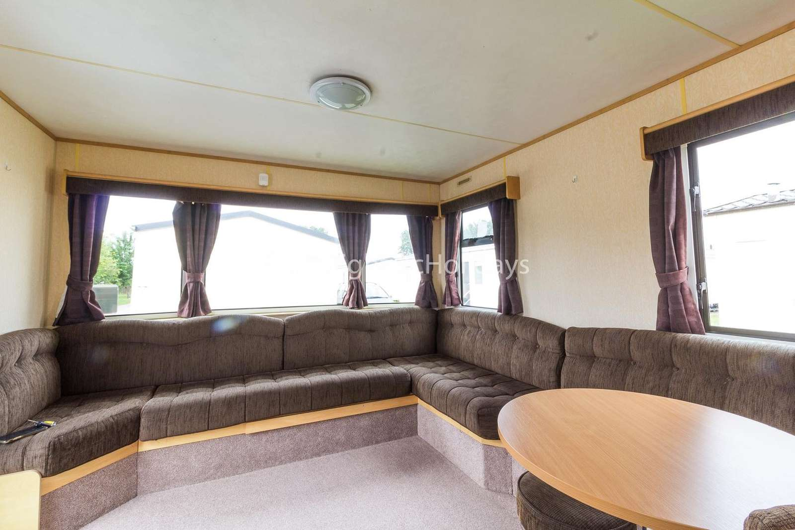 Very spacious lounge area with a TV/DVD player