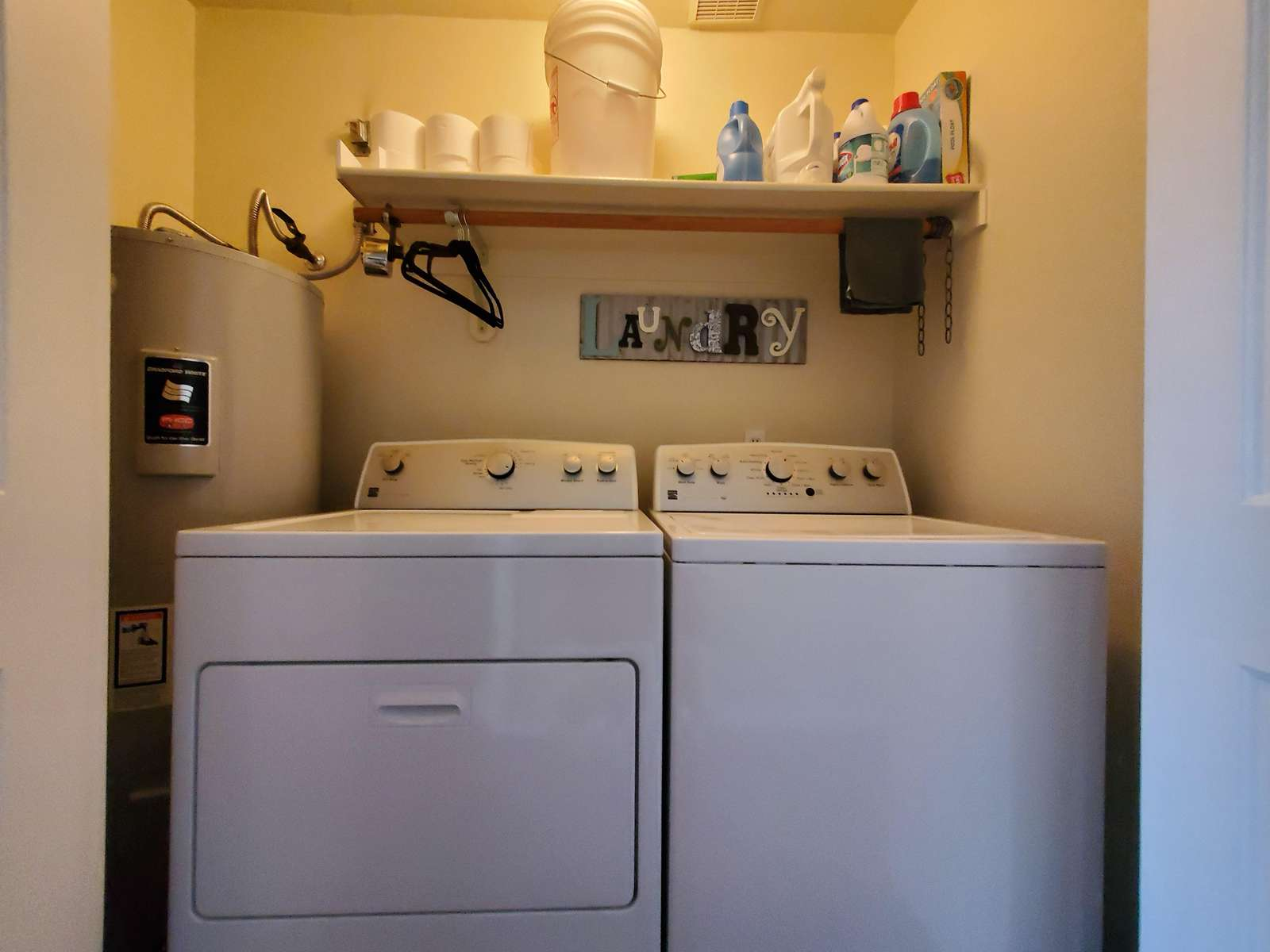 In Unit Full Size Washer/Dryer