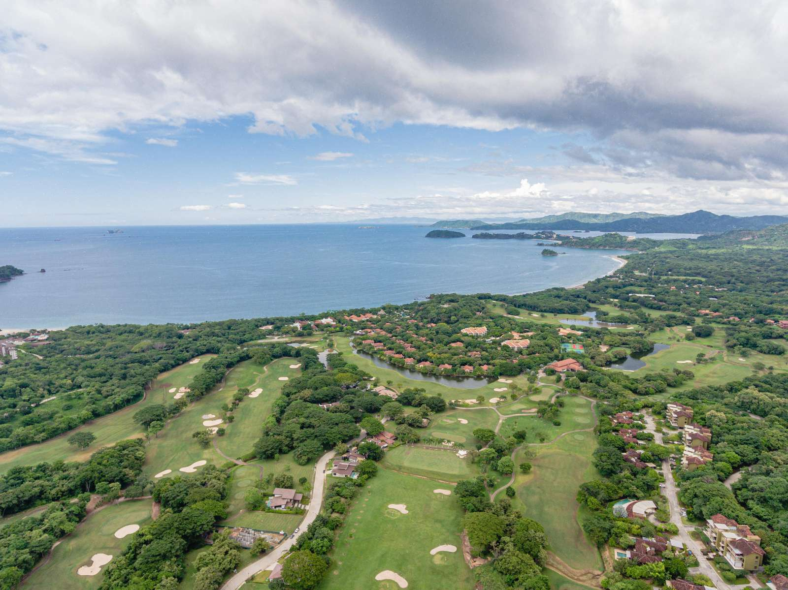 Aerial view of Reserva conchal 2,300 acre golf and resort community