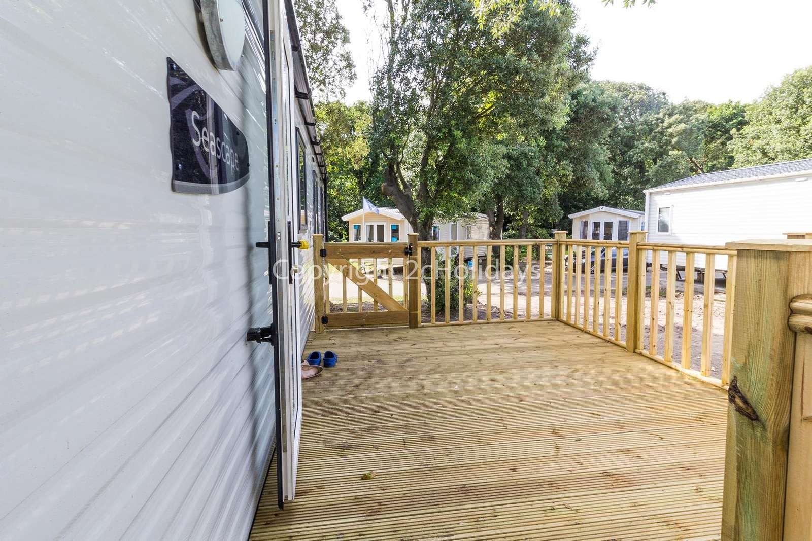 Gated decking perfect for families and pets!